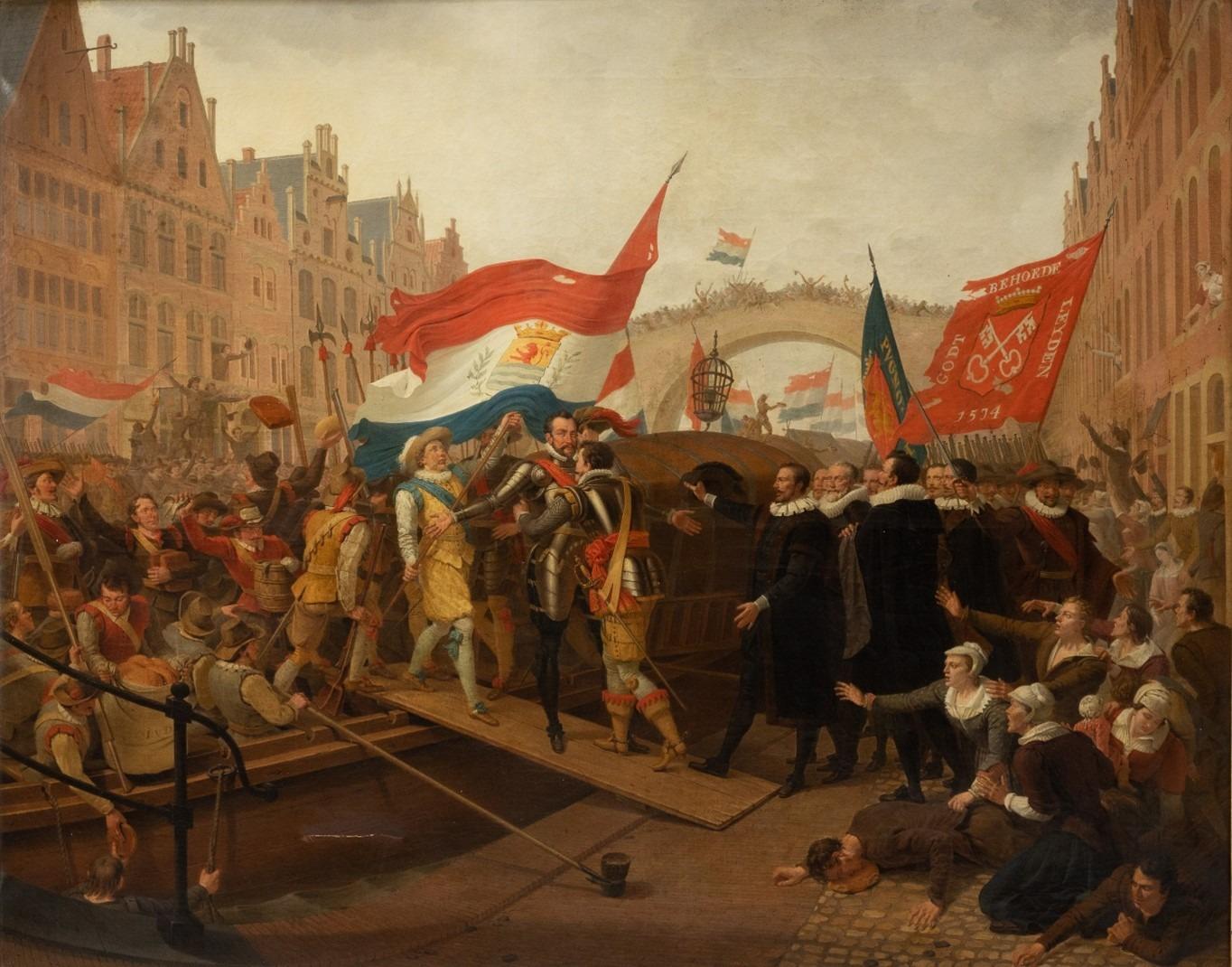 Een bijzonder schilderij weer terug in Leiden
