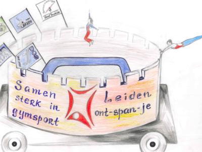 Gymsport Leiden wint praalwagenwedstrijd